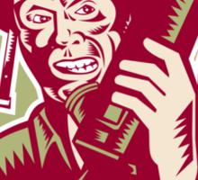 World War Two Soldier American Talk Radio Crest Sticker