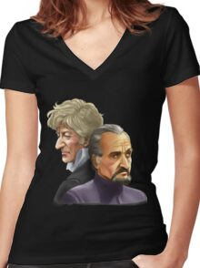 The Doctor and the Master Women's Fitted V-Neck T-Shirt