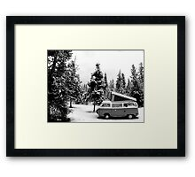 VW Bus Camping In Wyoming Framed Print