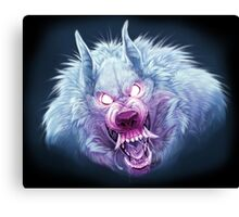 Red and Blue Wuff Canvas Print
