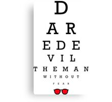 Daredevil Ophthalmologist Canvas Print