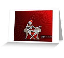 Graphic Novel Image - The One Eyed King Greeting Card