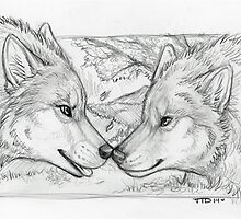 Wolf Couple by TalksToDogs