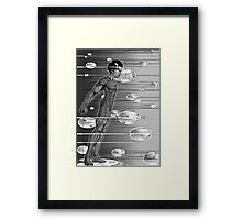 Graphic Novel Image - Robbie Digital on Digital Data Comet Framed Print