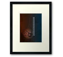 Stay True To Yourself (dark red/black/gray/blue) Framed Print