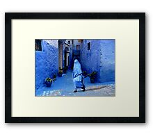 THE COLOR BLUE - MOROCCO Framed Print