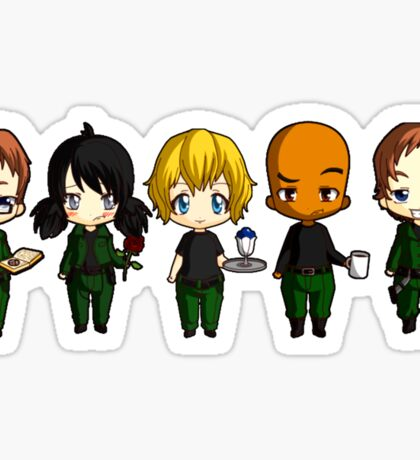 Chibi Stargate - Season 10 Team Sticker