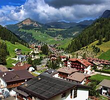 Above the Rooftops, The Dolomites by Amanda White