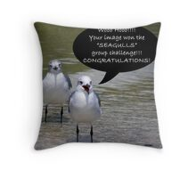 Seagulls Challenge Throw Pillow