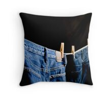 [ hung out to dry ] Throw Pillow