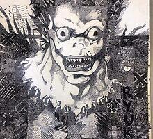 Ryuk - pen and ink by MonsterKitten