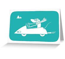 motoring mouse Greeting Card
