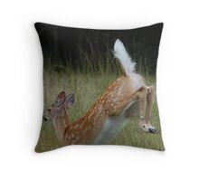 White-Tailed Fawn Throw Pillow