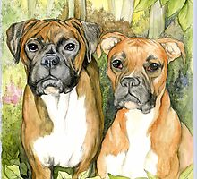 Boxer Dogs by morgansartworld
