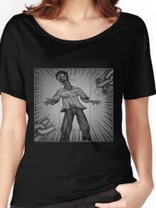 Graphic Novel Image - Consumer breaks the chains of... Women's Relaxed Fit T-Shirt