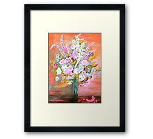 Spring Bouquet Water Color Framed Print