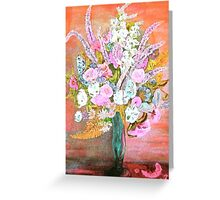 Spring Bouquet Water Color Greeting Card