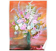 Spring Bouquet Water Color Poster