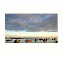 Struis Bay - Harbor at Sunrise Art Print