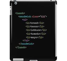 BLT HTML iPad Case/Skin