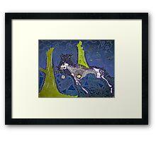 The Blue Hunt Framed Print