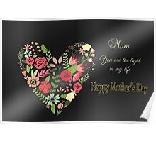 Mom, You Are the Light of My Life Poster
