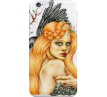 Girl with Crow iPhone Case/Skin