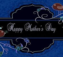 Dark Navy and Blue Mother's Day Products by Vickie Emms