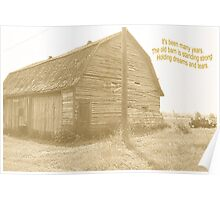 Old Country Barn Poster