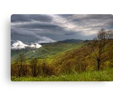 Spring Storm on the Blue Ridge  Canvas Print