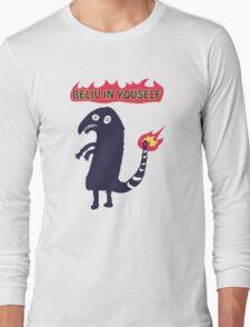 Shartmander - Believe in Yourself (Reddit Tattoo Charmander) Long Sleeve T-Shirt