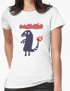 Shartmander - Believe in Yourself (Reddit Tattoo Charmander) Womens Fitted T-Shirt