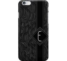 1920s Jazz Deco Swing Monogram black & silver letter E iPhone Case/Skin