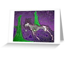 The Purple Hunt Greeting Card