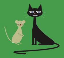 cat and mouse Kids Clothes