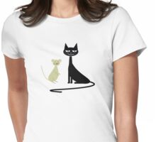 cat and mouse Womens Fitted T-Shirt