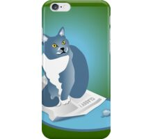 Jack Cat Reads The News Tee iPhone Case/Skin