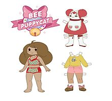 Bee and puppycat dress up paper doll by niymi