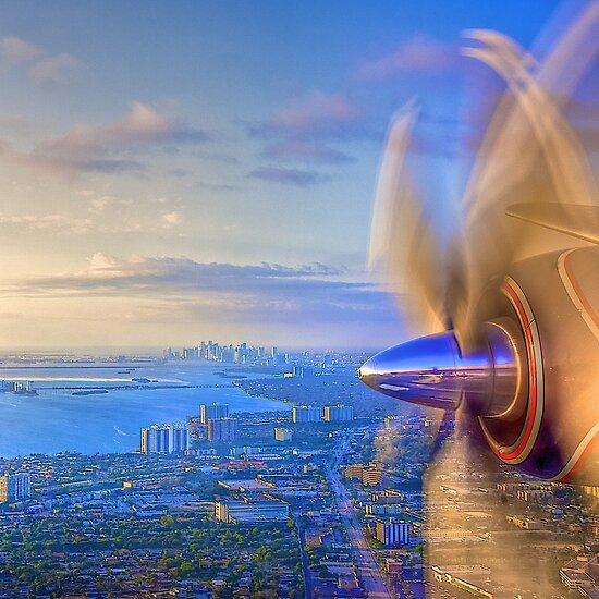 Over Miami by Bill Wetmore