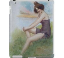 Lovely Lady Image From 1910 by Sherri Nicholas iPad Case/Skin