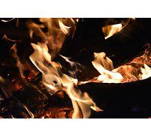Toasty Warm Fire Photographic Print