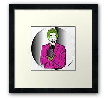 60s Joker Framed Print