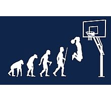 Funny Basketball Dunk Evolution of Man Photographic Print