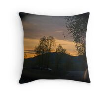 In the Rear View Mirror Throw Pillow