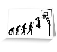 Evolution of Man to Basketball Slam Dunk Greeting Card