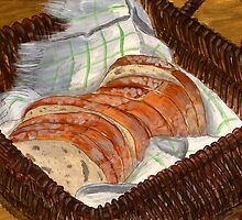 Basket of Bread by bernzweig