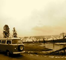 Bus At Yellowstone by GrnBusAdventure