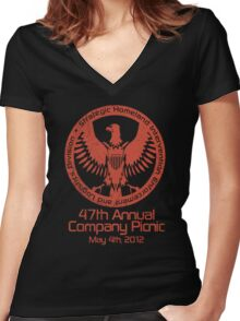 2012 Company Picnic Women's Fitted V-Neck T-Shirt