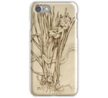 Narcissus and Echo - Walnut Ink iPhone Case/Skin