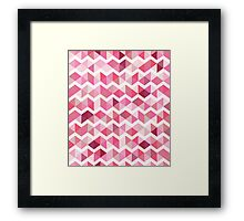 Pink chevron Framed Print